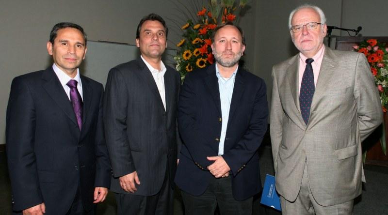 René Rebolledo Paneles Arauco, Martin Meister U de Chile, Gonzalo Zegers Paneles Arauco y Sergio Spoerer U de Chile