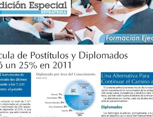 Matrícula de Postítulos y Diplomados creció un 25% en 2011
